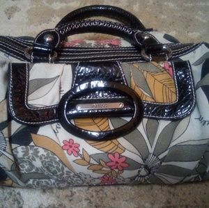 Guess small flora satchel purse